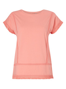 Pink Tassel Hem T-Shirt