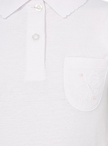 Girls White Embroidered Pocket Polo Shirts 3 Pack (2-12 years)