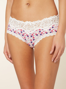 3 Pack Multicoloured Lace Top Shorts