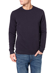 Navy Marled Crew Neck Sweat