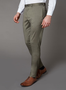 Khaki Skinny Fit Trousers With Stretch