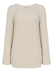 Oatmeal Flare Sleeve Jumper