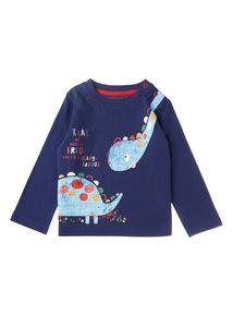 Boys Navy Dinosaur T-shirt (0-24 months)