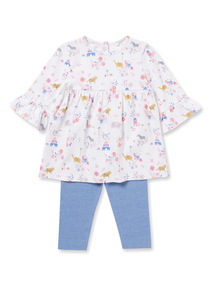 Multicoloured Printed Top and Leggings Set (0-24 months)