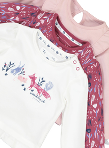 Multicoloured Woodland Friends Long Sleeve T-Shirts (0-24 months)