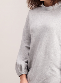 Grey Marl High Neck Tunic