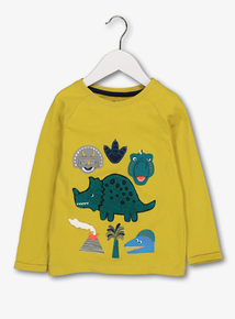 Green Dinosaur Long Sleeve T-Shirt (1 - 6 Years)