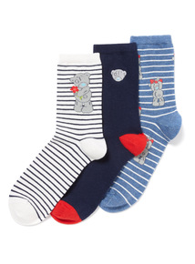 3 Pack Multicoloured Tatty Teddy Socks