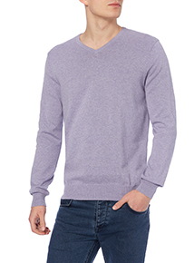 Purple V-neck Jumper