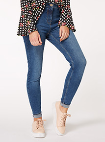Mid Denim Super Stretch Skinny Jeans
