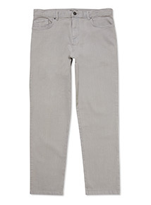 Pastel Grey Straight Fit Chinos