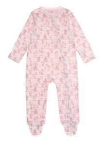 Pink Circus Zip Through Sleepsuit (0 - 24 months)