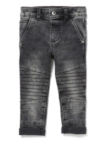 Black Denim Biker Jeans (9 months-6 years)
