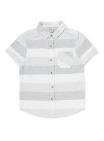 Grey and White Striped Shirt (3-14 years)