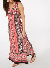 Multicoloured Spice Print Maxi Dress