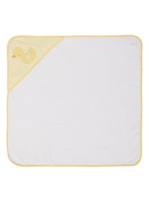 Unisex White Hooded Towel