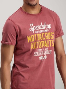 Red Graphic Speedshop Slogan T-Shirt 1c5cc2d09
