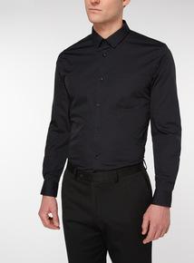 2 Pack Black Slim Easy Iron Long Sleeve Shirts