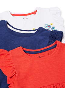 3 Pack Multicoloured Ladybird T-Shirts (9 months - 6 years)