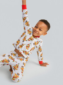 Grey Christmas Pizza Tree Pyjamas (4-14 years)