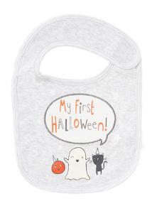 Grey My First Halloween Bib