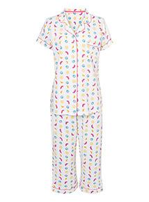 Multicoloured Fruit Print Pyjama Set