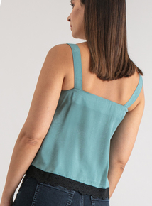 Premium Online Exclusive Light Green Satin Camisole