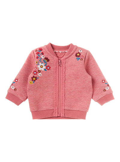 Pink Embroidered Bomber Jacket (0-24 months)