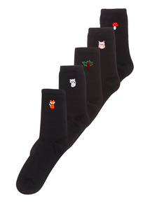 5 Pack Woodland Animal Socks