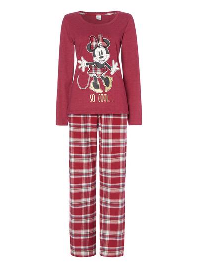 Womens Red Disney Minnie Mouse Pyjama Set | Tu clothing