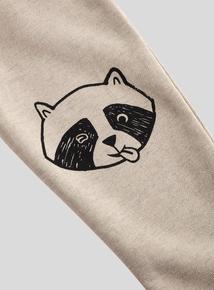 Grey Raccoon Print Joggers (9 months - 6 years)