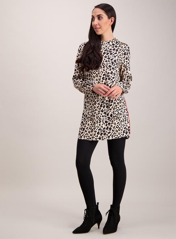 88209a2284f Womens Beige Leopard Print Tunic | Tu clothing