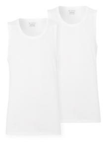 White Sleeveless Vest 2 Pack