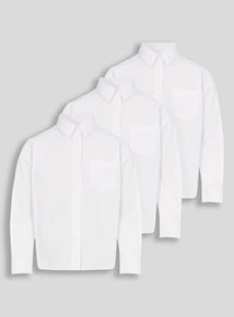 White Woven Shirt 3 Pack (17-18 years)