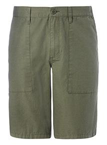 Khaki Ripstop Field Shorts