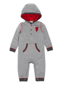 Grey Hooded Sweat Romper (0-24 months)
