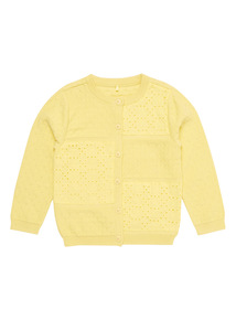 Yellow Broderie Cardigan (0 - 24 months)