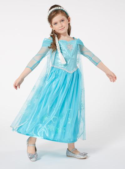 Blue Disney Frozen Elsa Sound And Light Costume (2-12 years)