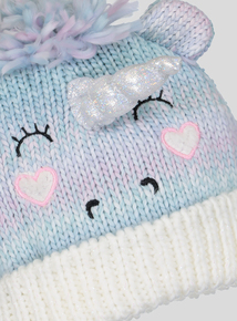 Multicoloured Unicorn Cable Knit Hat (1-13 Years)