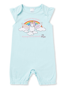 Blue Thats Not My Unicorn Romper (Newborn -18 months)