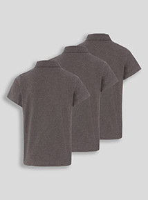 Unisex Charcoal Polo Shirts 3 Pack (8-16 years)