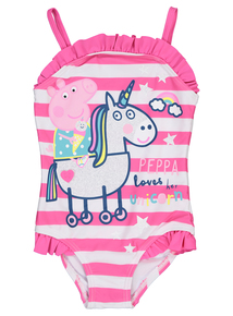 Pink Peppa Pig Unicorn Swimming Costume (1-5 years)