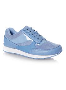 Blue Mixed Fabric Runner