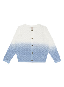 Girls Blue Ombre Cardigan (3 - 12 years)