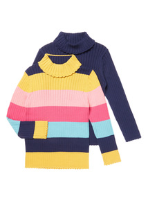 Roll Neck Tops 2 Pack (9 months-6 years)