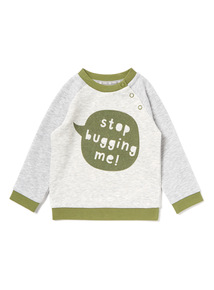 Grey 'Stop Bugging' Me Sweatshirt (0-24 months)