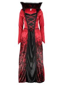 Online Exclusive Adult Red Halloween Vampiress Costume (Size 8-22)