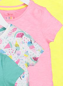 Multicoloured Short Sleeve T-Shirts 4 Pack