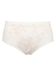 Cream Soft Touch High Rise Shorts