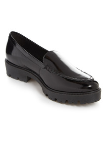 Premium Leather Black Patent Loafers